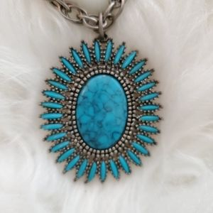 Boho Turquoise Chain Necklace